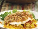 Fischfilet mit Mandel-Orangen-Haube Rezept