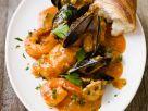 Fischpfanne mit Tomatensauce Rezept