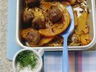 Fleischbällchen mit Kürbis im Ofen gebacken Rezept