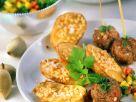 Fleischbällchen mit Ofen-Nusskartoffeln Rezept