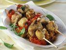 Fleischspieße mit Pilzen Rezept
