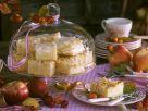 Fluffiger Apfelkuchen mit Mandeln vom Blech Rezept