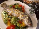 Forelle mit Gemüse und Mandelbutter Rezept