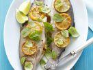 Forellen mit Füllung und Zitronenscheiben Rezept