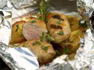 Französische Wurst vom Reh (Crepinette) mit Kartoffeln Rezept