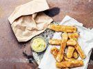 Fritterter Mozzarella mit Bearnaise-Dip Rezept
