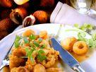 Frittiertes Hähnchen mit Litschi-Sauce Rezept