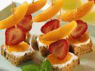Frucht-Brot-Häppchen Rezept