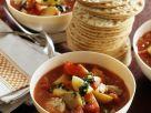 Fruchtige Gemüsesuppe mit Mais und Kartoffeln Rezept