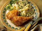 Fruchtige Hähnchenkeulen mit Salat Rezept