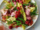Fruchtiger Gemüsesalat mit Himbeeren Rezept
