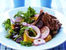 Fruchtiger Rindfleischsalat mit Roter Bete Rezept