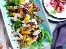 Fruchtiger Rucolasalat mit Hähnchen Rezept