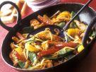 Fruchtiges Hähnchen mit Gemüse aus dem Wok Rezept