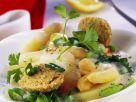 Frühlingshaftes Gemüse mit Grünkernbällchen Rezept