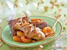 Gans mit Aprikosen und Mandeln Rezept