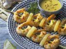 Garnelen-Ananas-Spieße mit Kokosdip Rezept