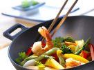 Garnelen-Gemüse-Wok Rezept