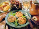 Gebacken Kartoffelküchlein mit Apfelfüllung Rezept