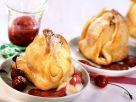 Gebackene Äpfel mit Marzipan und Kirschensoße Rezept