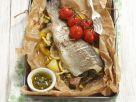 Gebackene Forelle mit Gemüse und Kapernsoße Rezept
