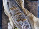 Gebackene Forelle mit Senf und Orangenzesten Rezept