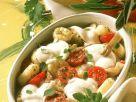 Gebackene Gnocchi mit Austernpilzen, Cherrytomaten und Mozzarella Rezept