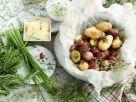 Gebackene Kartoffeln mit Dip Rezept