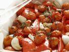Gebackene Knoblauchtomaten mit Paprika Rezept