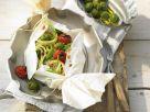 Gebackene Nudeln mit Stangenkohl und Knoblauch Rezept