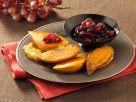 Gebackene Süßkartoffeln mit Traubenmarmelade Rezept