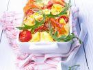 Gebackene Tortellini mit Tomaten und Schinken Rezept