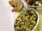 Gebackene Zucchiniröllchen Rezept