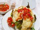 Gebackener Blumenkohl mit Tomatensalsa Rezept