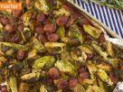 Gebackener Rosenkohl mit Trauben und Walnüssen Rezept