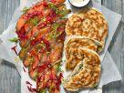 Gebeizter Lachs mit Mohn-Blini Rezept
