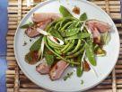 Gebratene Entenbrust mit Salat und Pflaumendressing Rezept