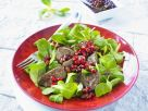 Gebratene Entenleber mit Feldsalat und Granatapfel Rezept