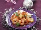 Gebratene Garnelen mit Reis Rezept