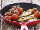 Gebratene Hähnchenbrust mit Cherrytomaten Rezept