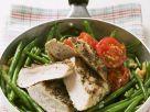 Gebratene Hähnchenbrust mit grünen Bohnen und Tomaten Rezept