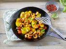 Gebratene Kartoffeln mit Shrimps Rezept