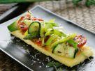 Gebratene Polenta mit Gemüse vom Grill Rezept