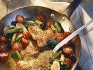 Gebratene Putenschnitzel mit Gemüse Rezept