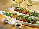 Gebratener Schafskäse auf Salat Rezept