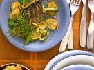 Gebratenes Doradenfilet mit Kartoffeln und Lauch Rezept