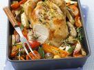 Gebratenes Hähnchen mit Ratatouille-Gemüse Rezept