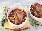 Gebratenes Lamm auf mediterranem Gemüse Rezept