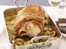 Gebratenes Schweinekotelett mit Petersilienwurzel und Zitrone Rezept
