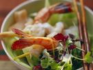 Gedämpfte Garnelen auf Gurken-Kresse-Salat Rezept